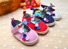 4Color Choice Girl Baby Polka Dot Flower Crib Infant Soft Sole Toddler Shoes