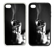 Smoking Gun Design - Rubber and Plastic Phone Cover Case