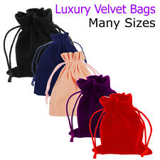 Velvet Bags Wedding Favours Pouches Party Cake Drawstring Gift Pack Jewellery UK