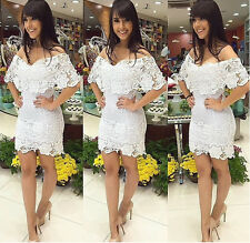 Women Evening Party Cocktail Dress Sexy Lace Bodycon Clubwear Summer Mini Dress