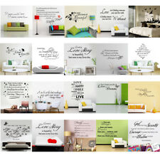 Quote Removable Wall Sticker Decal Mural Lettering Vinyl Home Room Kid Art Decor