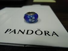 Authentic Pandora Sterling SIlver Murano Glass Limited Edition Flowers Charm