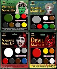 HALLOWEEN FACE PAINT MAKE UP DEVIL ZOMBIE WITCH VAMPIRE MAKEUP MULTI PALLETS
