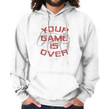 Your Game Is Over Controller Funny Picture Shirt Humorous Hoodie Sweatshirt