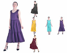 MARYCRAFTS WOMENS CASUAL MAXI LONG BOHO GYPSY BROOMSTICK DRESSES PEASANT SUMMER