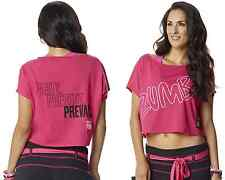 Authentic New Zumba Party in Pink Boxy Top, Berry  MSRP $24