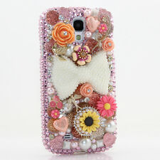FOR SAMSUNG GALAXY S6 NOTE 5 CRYSTALS BLING CASE COVER PEARL BOW SUN FLOWERS