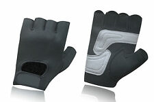 NEOPRENE CYCLING PADDED BICYCLE BIKE RIDDING GLOVES WEIGHT LIFTING FINGERLESS