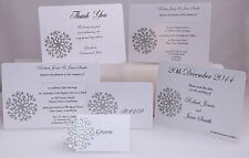 SNOWFLAKE SAMPLE WEDDING STATIONERY *FAST AND FREE P&P*