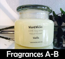 Scented Soy Wax Candle (Scents A-E) 100% Soy Wax - 65hr Burn Time Apothecary Jar