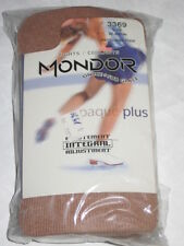 NEW Mondor WOMEN'S Ice dance #3369 Suntan Footed Acrylic Nylon TIGHTS L or XL