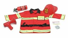Melissa & Doug Fire Chief Role Play Costume Set, Brand New, Free Shipping