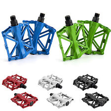 "Flat ALLOY FLAT PLATFORM BIKE PEDALS 9/16"" MOUNTAIN BICYCLE/MTB/BMX/CYCLE UK"