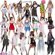 New Adult Zombie Bride Nurse Halloween Horror Ladies Womens Fancy Dress Costume