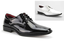 Mens Shiny Patent Leather Formal Tuxedo Lace Up Dress Shoes Oxfords Tuxi-01