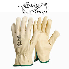 Leather Rigger Gloves Beige Cow Leather Hand Protection Good Work Glove Any Size