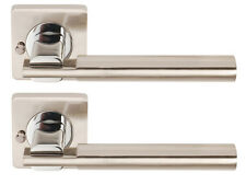 Dale CHRONOS LEVER SQUARE ROSE Door Handle SAT NICKEL CHROME Privacy DH003655-SQ