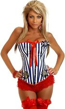 "Daisy Corsets ""Pin-Up Sailor"" Burlesque Sexy Lingerie Corset Bustier"