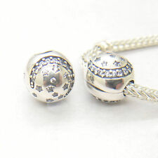 Authentic S925 Silver MOON AND STARS SILVER CLIP WITH CUBIC ZIRCONIA CHARM Bead