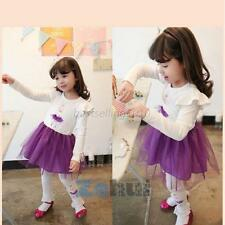 Kids Toddler Baby Girls Shrug Long Sleeve Tutu Skirt Ruffle Tulle Princess Dress