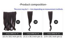 """18.1"""" Hair Extensions Medium hairpiece 5 pieces wavy Hair Extensions"""