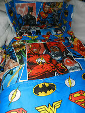 NEW SUPERHEROS Justice League MANY SIZES,SPACESAVER, COT OR COTBED BUMPER  SET