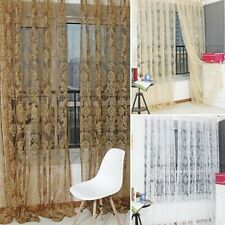Hot Pretty Floral Tulle Door Window Curtain Drape Panel Sheer Scarf Valances L97