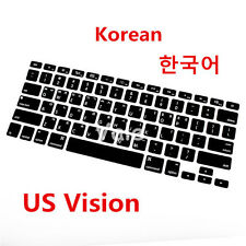 Korean US Type Keyboard Cover Skin for Apple Macbook Air Pro Retina MAC 13 15 17