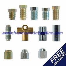 """Copper Pipe Brake Pipe Unions-Fittings-Ends Sizes for all Cars Metric & 3/8"""" UNF"""