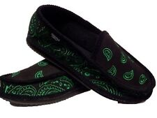 BLACK AND GREEN  BANDANA HOUSE SHOES SLIPPERS TROOPER  NEW SIZE 9 10 11 12 13