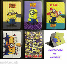 """Despicble Me Universal Leather Stand Case Cover 7"""" Inch Tab Android Tablet PC"""