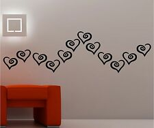 CLASSIC HEARTS wall art vinyl kids bedroom lounge love