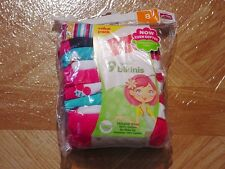 Hanes Girls 9 Pack Assorted Colors Tagless No Ride Up Bikini Underwear Size 8