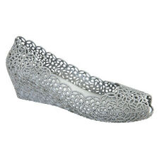 NEW Womens shoes Alicia Silver Wedge Jelly Shoe