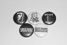 Street Punk Oi Button Lot Oxymoron Infa-Riot Defiance One Way System Casualties