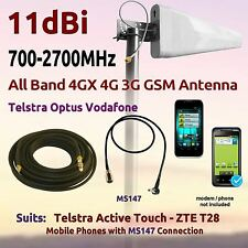 11dBi All Band 700-2700 Antenna for Telstra Active Touch ZTE T28 Coax FME MS147