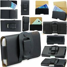 Luxury BLACK Leather Belt Clip Case Holster Pouch for Samsung Galaxy S3 S4 S5
