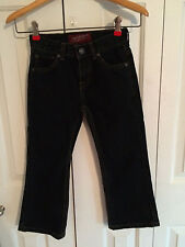Arizona Little Boys Dark Blue Bootcut Snap Front Adjustable Waist Jeans Size 5