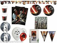 Star Wars 7 The Force Awaken's Birthday Party Tableware Cups plates napkins