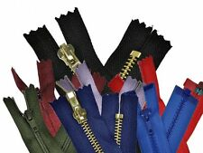 Invisible/Concealed zips 20cm various colours