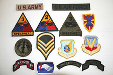 NEW US ARMY AIRFORCE MILITARY CLOTH PATCHES  VARIOUS BADGE GENUINE SURPLUS PATCH