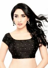 Charismatic Black Ethnic Saree Blouse Sari Choli Indian Crop Top