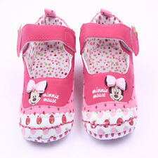Toddler baby girls minnie baby shoes crib shoes size 0-6 6-12 12-18 months