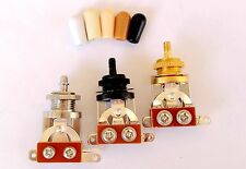 Quality 3 Way Toggle Switch CHROME BLACK GOLD & Tip for Gibson Epiphone Guitar