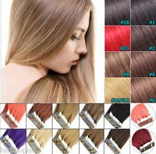 """16""""18"""" 20"""" 22"""" 22""""PU Tape In Remy Straight 100% Human Hair Extensions 20pcs40pcs"""
