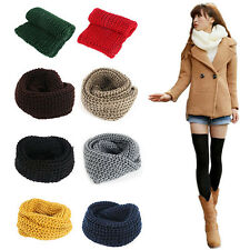 Sweet Women Girl  Neck Scarf Cable Knitting Wool Casual Cowl Shawl Scarf Hot L63
