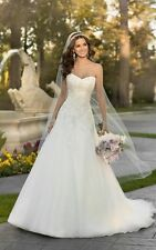 Stock White Tulle Sweetheart Wedding Dress Gown Bridal US Size 6+8+10+12+14+16