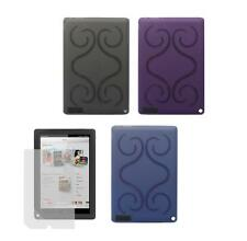 "TPU Gel Skin Cover Case + Screen Protector for Barnes & Noble Nook HD+ 9"" Tablet"