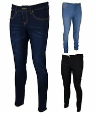 NEW LADIES WOMENS SKINNY FADED STRETCHY JEANS DENIM BLUE TROUSERS SIZE 8-18