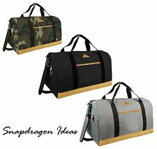 SnapdragonIdeas Polished Polyester Sport Weekend Duffle Bag with Shoes Pocket